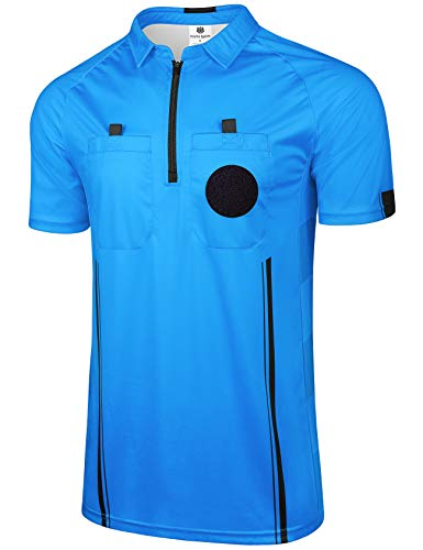FitsT4 Pro Soccer Referee Jersey Short Sleeve Ref Shirts