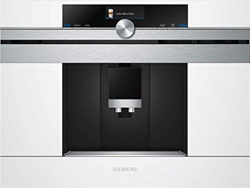 Siemens CT636LEW1 iQ700 Einbau-Kaffeemaschine / sensoFlow System / Intelligent Heater Inside / OneTouch Function / calc'nClean / autoMilk Clean / Weiß