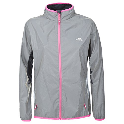 Trespass Lumi, Silver Reflective, M, Wasserdichte Jacke aus Vollständig Reflektivem Material für Damen, Medium, Grau