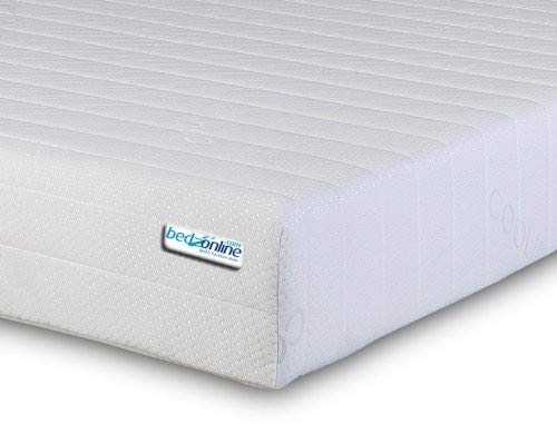 BEDZONLINE ON 4FT6 DOUBLE MEMORY FOAM MATTRESS WITH REFLEX MIQRO QUILTED EXCLUSIVE COVER TO UK MANUFACTURED