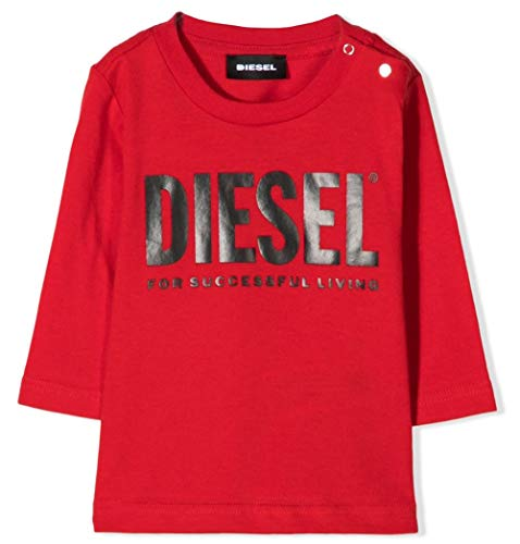 Diesel Tjustlogo T-Shirts & Poloshirts Kind Rot - 12 Mois (12 Monate) - Langarmshirts Shirt