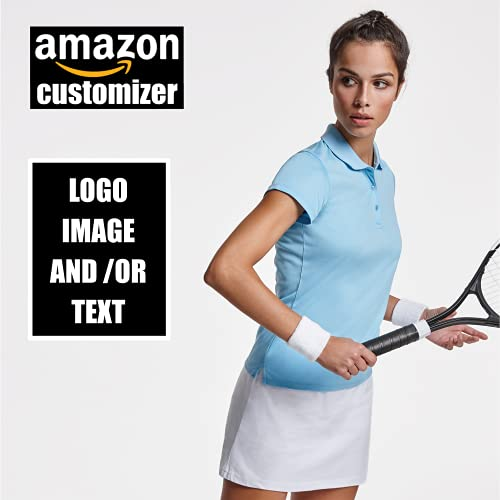 rainUP – Camiseta Técnica Deportiva Personalizable – Polo Padel Tenis Mujer Chica - Manga Corta – Impresión Directa (DTG) – Puedes añadir tu Frase, Logo o Imagen Personalizada