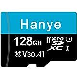 microSDXCカード 128GB Hanye UHS-I 超高速 U3 V30 4K Ultra HD アプリ最適化A1対応 Nintendo Switch/OSMO POCKET/insta360 動作確認済 [並行輸入品]