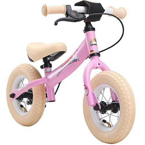 BIKESTAR Kinder Laufrad Lauflernrad Kinderrad für Mädchen ab 2 - 3 Jahre | 10 Zoll Sport Kinderlaufrad | Pink | Risikofrei Testen