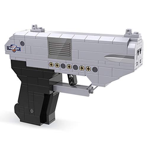 ITop Technik Desert Eagle Pistole Modell, 250 Teile Waffe Gewehr Bausteine Bausatz mit schussfunktion Kompatibel mit Lego