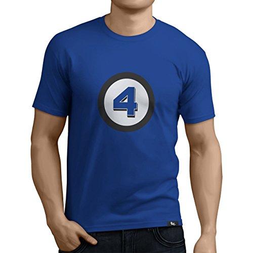 Tuning Camisetas Herren T-Shirt Die Fantastischen Vier - Witziges Bedrucktes T-Shirt, Blau, Größe M