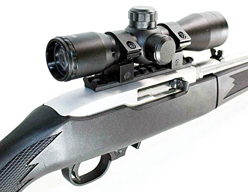 TRINITY 4x32 Mil Dot Reticle Compact Scope Hunting Tactical Aluminum Black Ruger 1022 10-22 10/22 Scope Mount Base Adapter Picatinny Weaver Optics