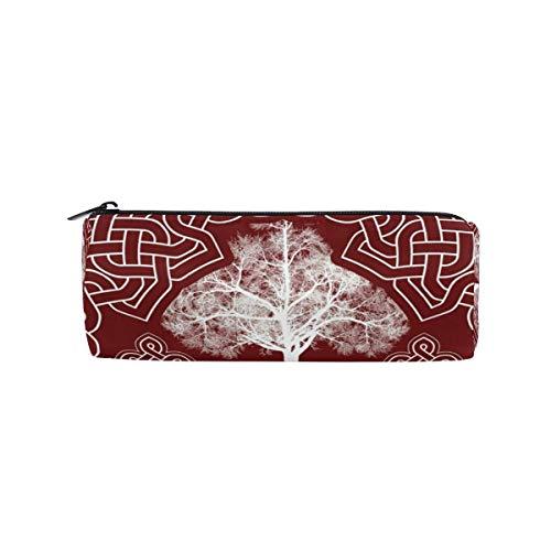 Estuche para lápices con diseño de árbol nórdico vikingo, con impresión irlandesa, bolsa de papelería, bolsa de maquillaje