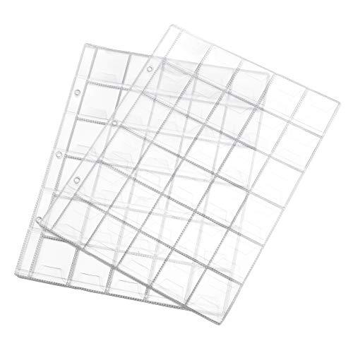 ENET 10 Stks 30 Zakken Plastic Heldere Munthouders Opslag Collectie Geld Album Pagina