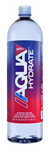 Product Image of the AQUAhydrate Electrolyte Enhanced Alkaline Water, 50.7 Fl. Oz (Pack of 12)