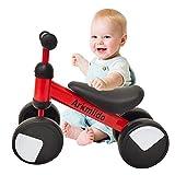 Bicicleta de Equilibrio para niños de 1 a 3 años Marco de Acero al Carbono Bicicleta de Entrenamiento para Caminar sin Pedal, Regalos de cumpleaños para niños y niñas (Rojo)