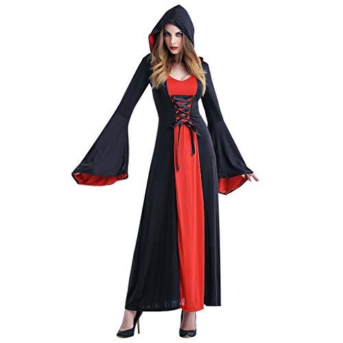 catmoew Bruja Disfraz Vampiresa de Mujer Halloween,Vestido de Vestido de época Medieval para Disfraces Fiesta