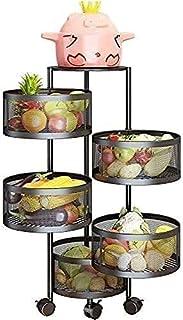 Cuisine rangement rack rack rosseur de cuisine étagère 5 couches cuisine crépite de légumes ronde planche multicouche poch...