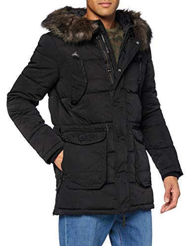 Superdry Chinook Parka, Negro, M para Hombre