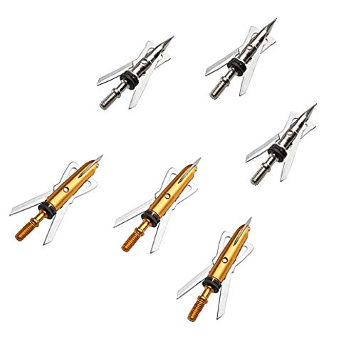 Precision Official Visionary Outdoors Broadheads Hunting Broadheads | 6 Pack | Rear Deploying Expandable Broadheads | Replacement Blades/Orings | 100 Grain | Mechanical Archery Broadheads
