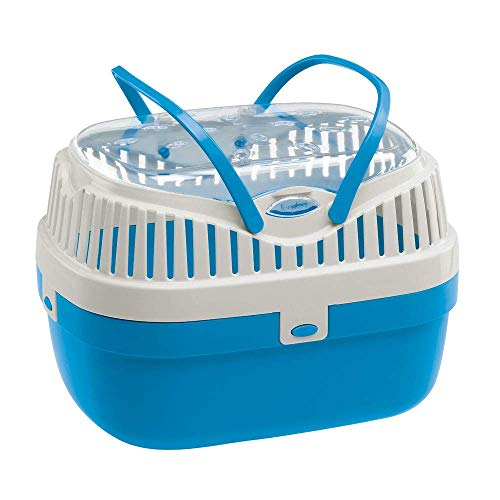Ferplast Guinea Pig and Other Rodent Carrier ALADINO Medium Travel Cage for Small Animals, Rodents, Guinea Pigs, Sturdy Plastic, Ventilation Grids, Comfortable...