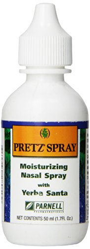 Pretz Spray Moisturizing Saline Nasal Spray with Yerba Santa, 1.7 Fluid Ounce