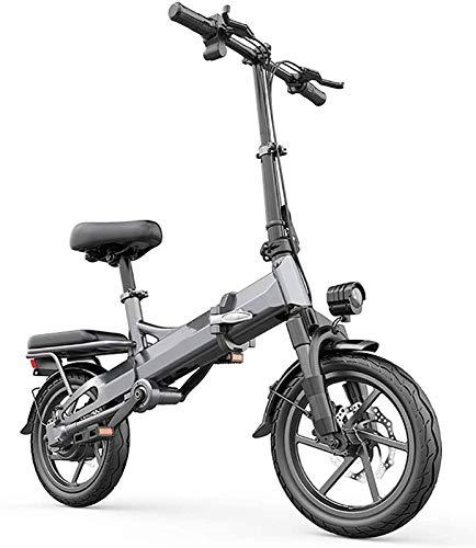 Bicicleta Eléctrica Plegable Bicicleta eléctrica de nieve, bicicleta eléctrica plegable 48V Batería de litio extraíble Playa de bicicleta de nieve 14 'Ebike 350W Fuceed eléctrico Bicicleta eléctrica B