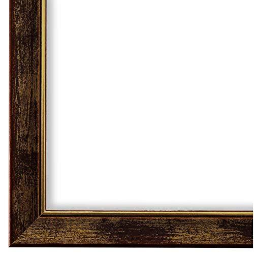 Online Galerie Bingold Bilderrahmen braun Gold DIN A3 (29,7 x 42,0 cm) cm DINA3(29,7x42,0cm) - Modern, Shabby, Vintage - Alle Größen - handgefertigt - WRF - Frosinone 1,8