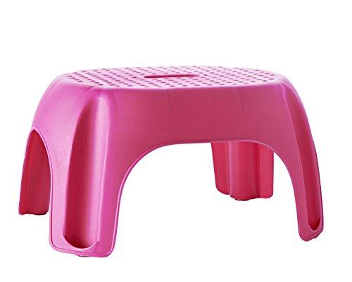 RIDDER Assistent A1102613 Schemel, Tritt, Kinder-Hocker, Eco, fuchsia / pink
