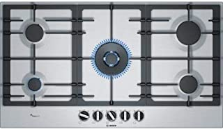 Bosch Serie | 6, 90 cm Built in Gas Hob, 5 Gas burners, PCR9A5B90M, 1 Year Warranty