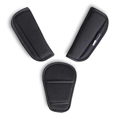 3 pezzi/set Passeggino copri cinghia per seggiolino auto Biforcazione del cavallo Cuscino universale per cintura di sicurezza per neonatiNeonati bambini (3 pezzi)