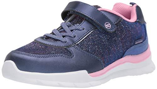 Stride Rite Girls' Evelyn Sneaker, Navy, 9.5 M US Toddler