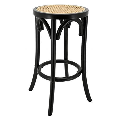 AubryGaspard - Taburete de Bar (Madera lacada), Color Negro