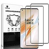 Schutzfolie Panzerglas [2 Stück] für OnePlus 8 Pro, Fingerabdruck-ID unterstützen, 9H Folie, Blasenfrei, HD Clear Bildschirmschutzfolie für OnePlus 8 Pro
