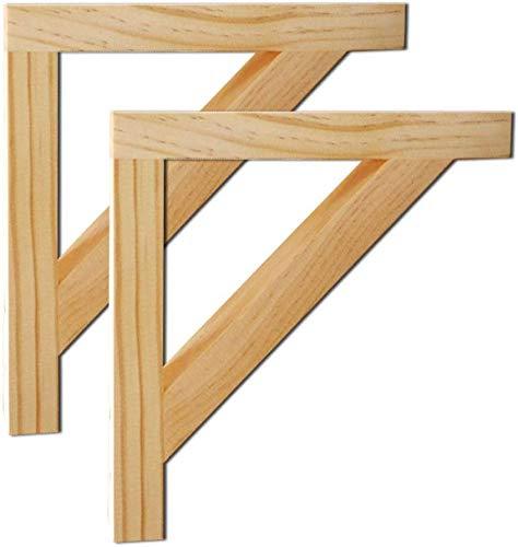 XD Panda houten standaard: verpakking met 2 houten planken, decoratie voor thuis van robuust hout, wandmontage, maximale belasting: 65 kg.