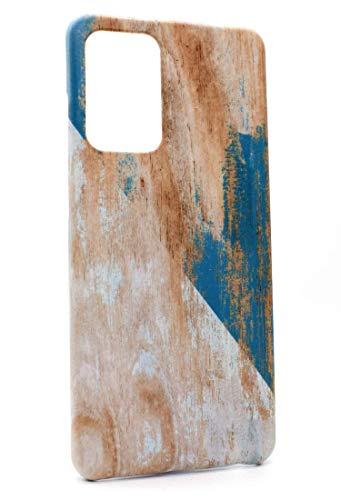 Mrwildstudio Funda de madera azul para Samsung Galaxy A52 4G A52 5G Cover Case