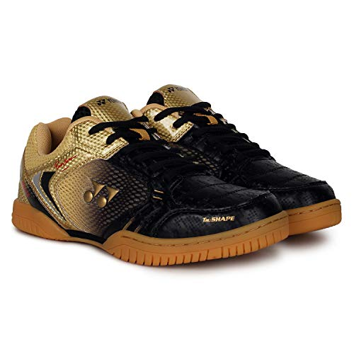 Yonex Signature Edition Non-Marking Badminton Court Shoes, Black/Gold