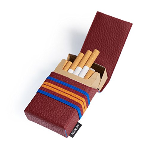 FLAPCASE N°1 • RUGBY • Designer Zigarettenetui, Made in Austria, Gummiband, Leder vegan Zigarettenbox für 19, 20, 21 Packungen, regular King-Size