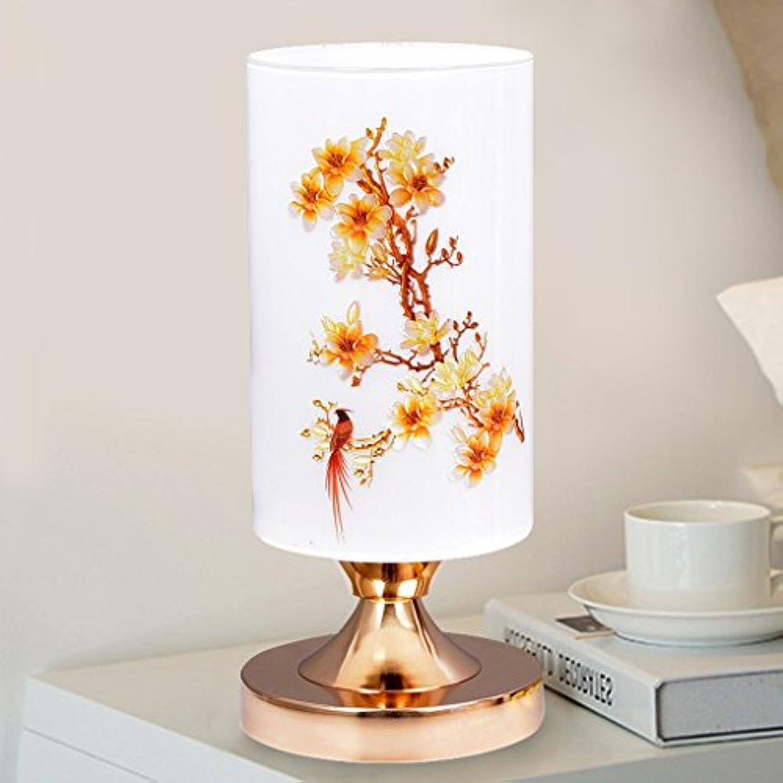 CJH Einfache Moderne Schlafzimmer Warmes Glas Wohnzimmer Studie Persnlichkeit Nordic Mode Kreative Tischlampe (Farbe   E)
