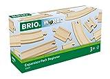 Brio World - 33401 - Coffret Evolution Débutants 11 Rails - Accessoire pour circuit de train en bois - Assortiment de rails - Jouet pour garçons et filles dès 3 ans