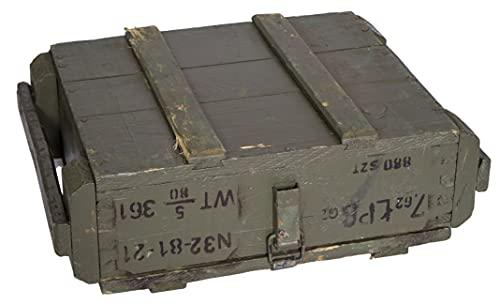 Munitionskiste T45 Natur Aufbewahrungskiste ca 49x37x18cm Militärkiste Munitionsbox Holzkiste Holzbox Weinkiste Apfelkiste Shabby Vintage - 5