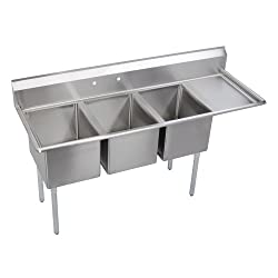 Elkay Foodservice basin with a right sided drainboard