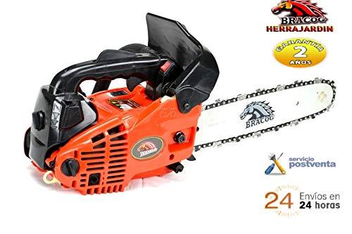 BRACOG- Motosierra de gasolina de poda 25.4cc, Espdin de 12