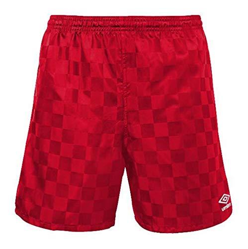 Umbro Checkered Shorts, Vermillion/White, M