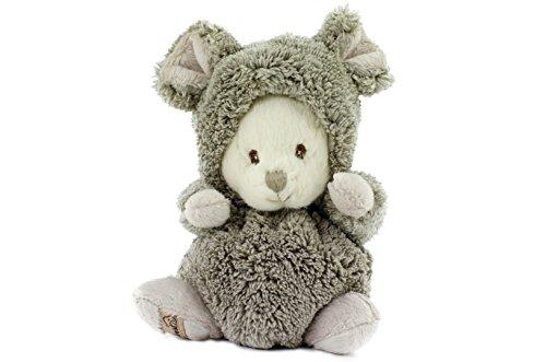 Ziggy Mouse Bukowski, Teddybär im Mauskostüm, grau/weiß 15cm, Baby