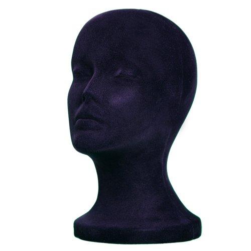 BLACK STYROFOAM FOAM MANNEQUIN head MANIKIN wig display hat glasses