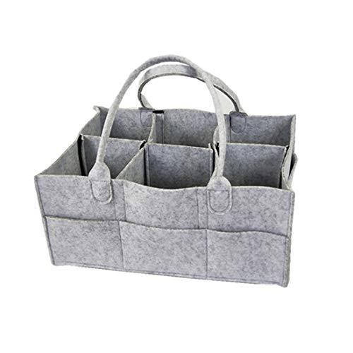 Organiseur de couches de bébé, sac de rangement pliable en feutre pour chambre d'enfant, panier à couches multifonction avec compartiments interchangeables pour maman, nouveau-né et enfants