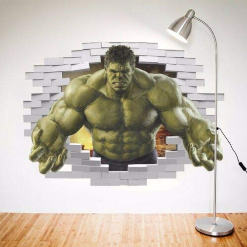 Utopiashi The Avengers 3D-Wandsticker, Dekoration, Wandbilder, Kunst-Aufkleber, Eule, Mond One Size Hulk