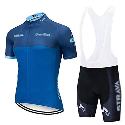 Radtrikot Strava Radsport Trikot Kurzarm Set Trikot Ciclismo schnell trocknend Uniformen Fahrrad Kleidung Trikot MTB (Farbe: C10, Größe: XXL)