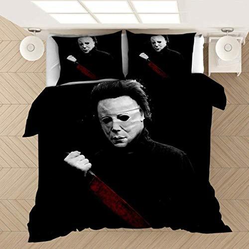 QWAS Vampire Serie Juego de ropa de cama 3D Traummmuster super suave y cómodo, sin edredón (V06,220 x 240 cm + 80 x 80 cm x2)