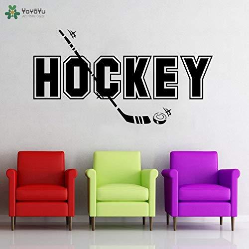 zaosan Etiqueta de la Pared Etiqueta de la Pared Deporte Hockey Etiqueta de la Pared Deporte Cita Equipo Juego Hockey Stick Ball Chicas Niños Adolescente Habitación Ejercicio 99x53cm