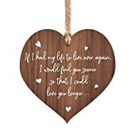 If I had my life to live over again love plaque   I love you so much gifts   romantic gifts for wife...