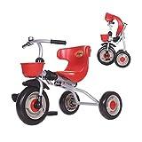GYF Bambini Triciclo Pieghevole Pedale Moto Interni Esterni Ragazzi Multi-Funzione e Le Ragazze Festa Compleanno Regalo di Cavallo Giocattolo 50X70X45CM (Color : Red)