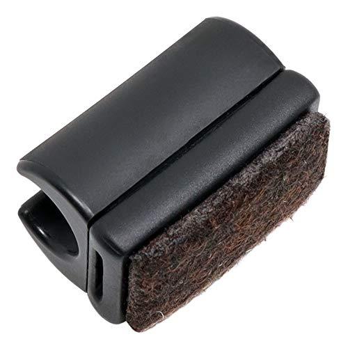 Adsamm® / 16 x Klemmschalengleiter mit Filz/ø für runde Rohre 10-11 mm/Schwarz/rund/Möbelgleiter mit austauschbarer Filzfläche für Freischwinger in Premium-Qualität