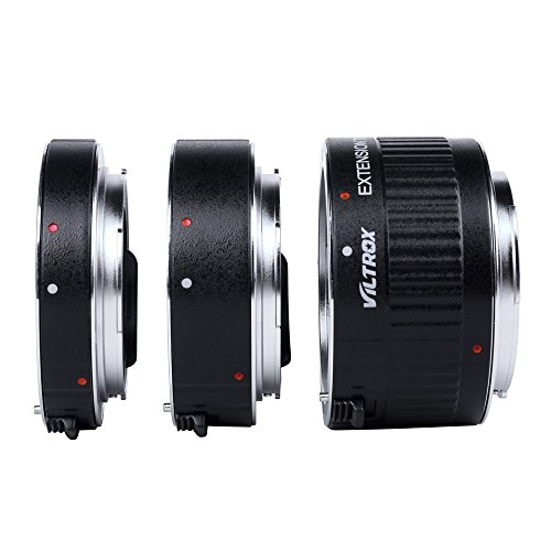 Viltrox DG-C Auto AF TTL tubo di prolunga ad anello, da 12 mm, 20 mm, 36 mm, in metallo, con tappi, per obiettivo Canon EF-S da 35 mm per fotocamera DSLR
